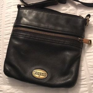 Black Fossil over the shoulder purse